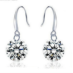Sterling Silver/Gem Earring Drop Earrings Wedding/Party/Daily/Casual(1pair)