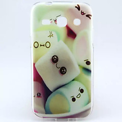 Cotton Candy Pattern TPU Soft Cover for Samsung Trend 3 G3500 G3502