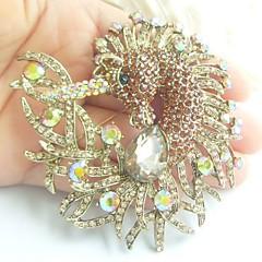 kvinder tilbehør guld-tone topas rhinestone krystal enhjørning hest broche art deco tørklæde broche pin kvinder smykker