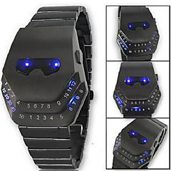 reloj de los hombres llevó electrónica movimiento enmascarado estilo de los hombres