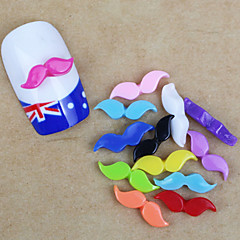 12PCS Moustache Nail Art Decorations