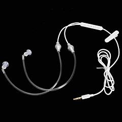 tubo de aire cwxuan ™ a2-35 3.5mm radiación contra el auricular / micrófono para el iphone 6 / 5s samsung s4 / 5 htc y otros