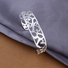 Silver Plated Bracelet Cuff Bracelets Wedding/Party/Daily/Casual 1pc