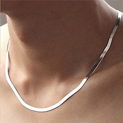 Necklace 925 Sterling Silver Chain Necklaces Jewelry Party / Daily / Casual / Sports Fashion Silver / Sterling Silver Silver 1pc Gift