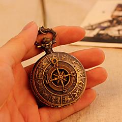 Antikens Rom kompass mönster kvarts analoga vintage antika karta fickur klocka mens 78cm kedja steampunk