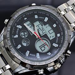 montres montre habillée numérique acier analogique complet sports militaires des hommes double quartz conduit montre imperméable 5atm