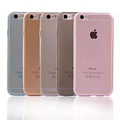 Für iPhone 6 Hülle / iPhone 6 Plus Hülle Ultra dünn / Transparent Hülle Rückseitenabdeckung Hülle Einheitliche Farbe Weich TPUiPhone 6s