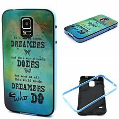 2-in-1 World Need Dreamers Pattern TPU Back Cover with PC Bumper Shockproof Soft Case for S5 Mini/S3/S4/S3 Mini/S4 Mini