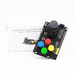 gaming joystick de arduino protector de la placa de expansión - negro + multicolor