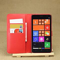 Mert Nokia tok Pénztárca / Kártyatartó / Állvánnyal Case Teljes védelem Case Egyszínű Kemény Műbőr Nokia Nokia Lumia 1320