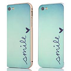 armação de metal + padrão sorriso backplane tampa da caixa traseira para o iphone 5 / 5s (cores sortidas)