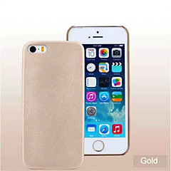 Leather Back Cover Case for iPhone 5/5S  (Assorted Colors)