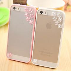 chuva de meteoros jóias padrão de flor de metal com TPU caso protetor de tela para iPhone 5 / 5s (cores sortidas)