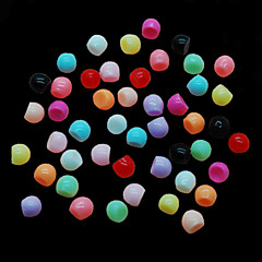 CandyPearl5mm 100pcs/lot 5mm Nail Decoration Pearls, Mixcolor Candy Pearls Half Round Pearls BNail Jewelry Decor