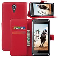 litchi autour parenthèse ouverte téléphone en cuir carte portefeuille adapté pour HTC Desire 620 (de couleur assortie)