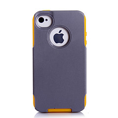 super protection TPU + pc 2in1 combo shell étui protecteur pour iPhone 4 / 4S (couleurs assorties)