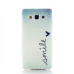 Varten Samsung Galaxy kotelo Kuvio Etui Takakuori Etui Sana / lause TPU Samsung A3