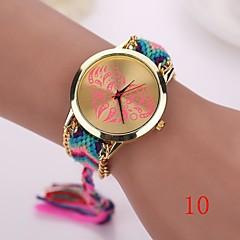 nieuwe mode kwarts liefde horloge geweven stof gouden ketting armband horloge vrouwen natie stijl vrouwen horloges dames polshorloge
