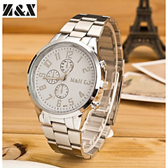 Men's Fashion Diamond  Quartz Analog Steel Belt Watch(Assorted Colors)