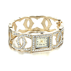 Sjeweler Girls Female Elegant 24K Gold Plating Bracelet Watch