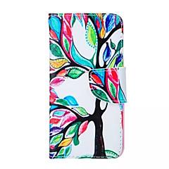 árvore de vida padrão de pu caso de telefone couro para o iPhone 5 / 5s