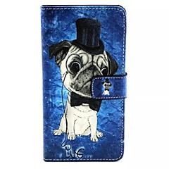 Na Samsung Galaxy Etui Etui Pokrowce Etui na karty Z podpórką Flip Wzór Magnetyczne Futerał Kılıf Pies Skóra PU na Samsung A7 A5 A3