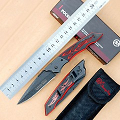 Outdoor Creative Geometry Hollow Out Fold Self-defense Knife