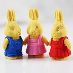 부활절 복고풍 토끼 분리 고무 지우개 (임의의 색)