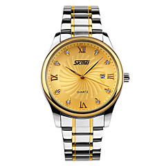 SKMEI® Men's Luxury Business Stainless Steel Quartz Watch Cool Watch Unique Watch
