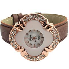 vrouwen bloem wijzerplaat diamant quartz mode horloge