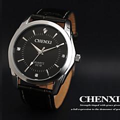 CHENXI® Men's Dress Watch Business Design Black Leather Strap