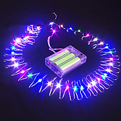 16.5 Ft 50 Led Submersible Wire Battery Powered String Fairy Light Party Decoration