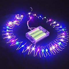 16,5 ft 50 ledde dränk tråd batteridrivna sträng fairy ljus part dekoration