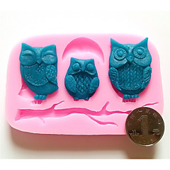 Three Owls Silicone Fondant Mold Cake Decoration Mold