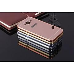 Mert Samsung Galaxy tok Ütésálló / Galvanizálás / Tükör Case Hátlap Case Egyszínű Fém Samsung J7