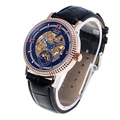 Cjiaba Mode Luxusmarke auszuhöhlen Männersache Lederband automatische mechanische Uhren (verschiedene Farben)
