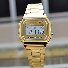 Men'S Led Watch Stainless Steel Watch (Gold/Silver) Cool Watch Unique Watch