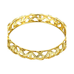 Simplicity Delicate Hollow Irregula Style 5.6*5cm Women's Multicolor Gold-Plated Brass Bangles(Golden&Rose Gold)(1 Pc)
