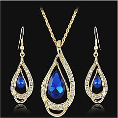 Ensemble de bijoux Cristal Mode Goutte Or Set de Bijoux Soirée Occasion spéciale Anniversaire Cadeaux de mariage