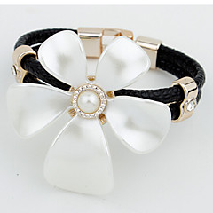 MISSING U Alloy / Imitation Pearl / Leather / Rhinestone Bracelet Cuff Bracelets / Leather Bracelets Daily / Casual 1pc