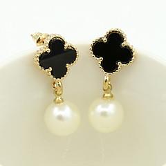 Earring Drop Earrings Jewelry Women Alloy / Rhinestone / Platinum Plated 1set Gold / White