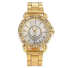 נשים שעונים שעון קוורץ קריסטל זהב נשים שעון סגסוגת אופנה