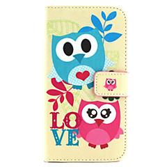 Owl Pattern PU Leather Phone Case For  Galaxy J1/Galaxy Grand 2 G7106