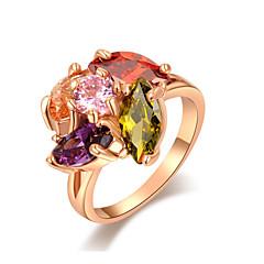z & x® rose gull flerfarget zirkon / krystall Ofte ringer bryllup / fest / daglig