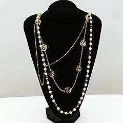 Γυναικεία Κολιέ Δήλωση μαργαριτάρι σκέλη Κρυστάλλινο Μαργαριτάρι Στρας απομίμηση διαμαντιών 18K χρυσό Μοντέρνα Χρυσό Κοσμήματα