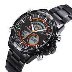 Luxury Men's Full Steel Waterproof Sport Watch Japanese Quartz Analog-Digital Multifunctional Hours (Assorted Colors)