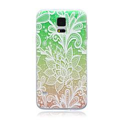 färg spets blommor mönster TPU mjuk baksida täcker fallet för Samsung Galaxy S3 s4 s5 s6 s3mini s4mini s5mini s6 kant