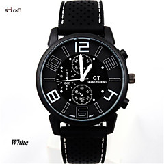 Men's Silicone Band Quartz Anolog Sports Wrist Watch(Assorted Colors)