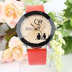 circular relógio de quartzo moda feminina