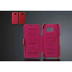 Special Design Genuine Leather Name Brand Style Solid Color Full Body Case For Galaxy S6/S6 edge(Assorted Color)